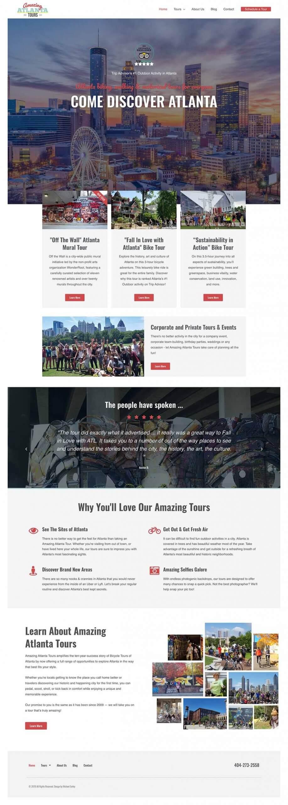 Amazing Atlanta Tours Website Design
