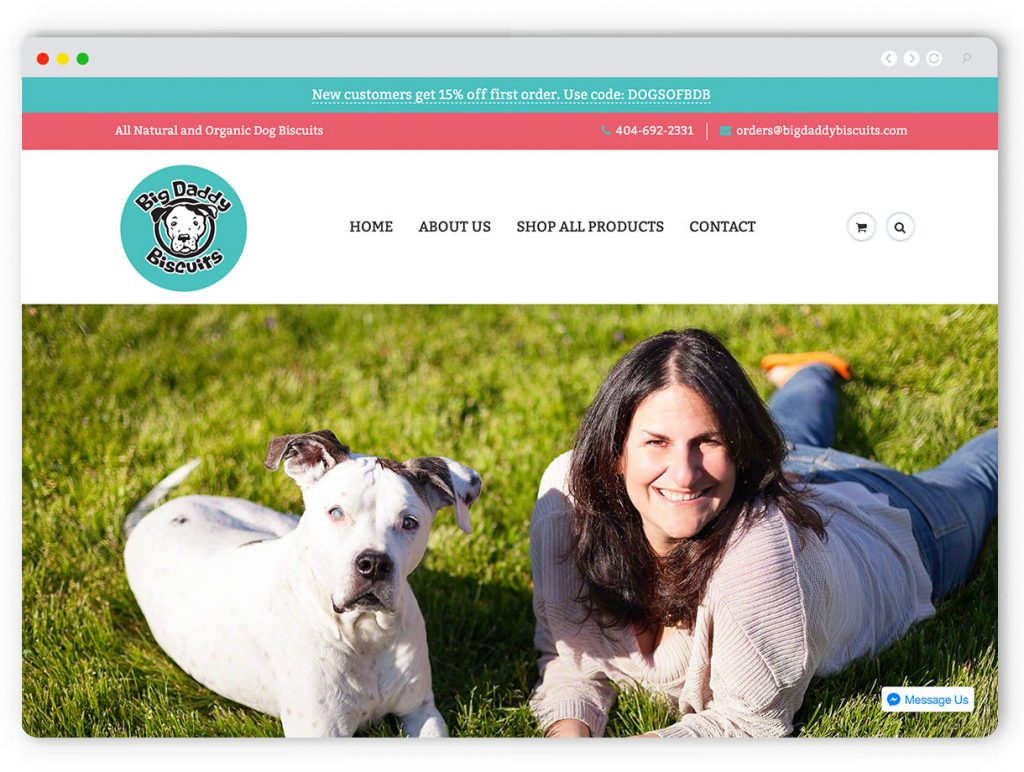 Dog Ecommerce Web Design