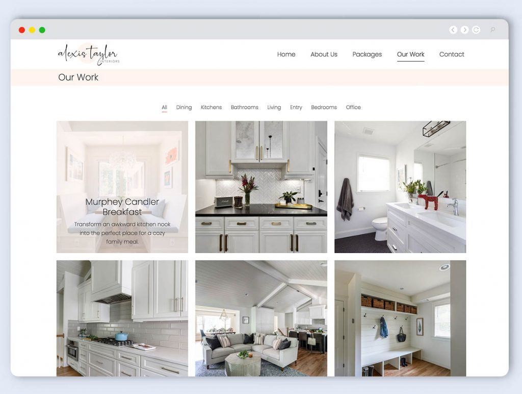 Gallery Design on Website