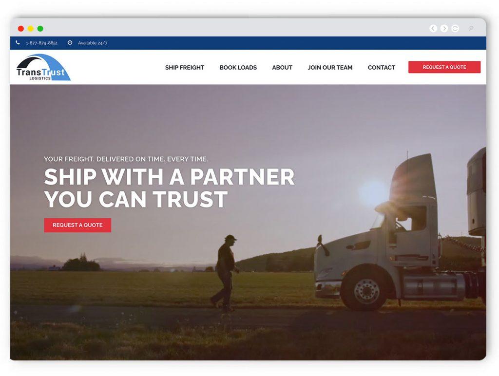 Logistics Web Design