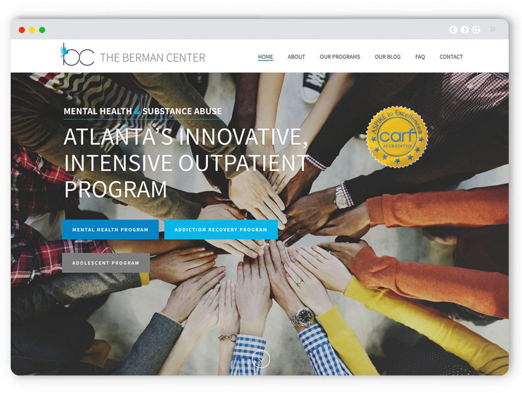 Berman Center Website Design